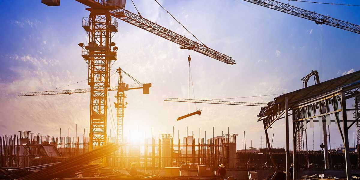 Crane at building site