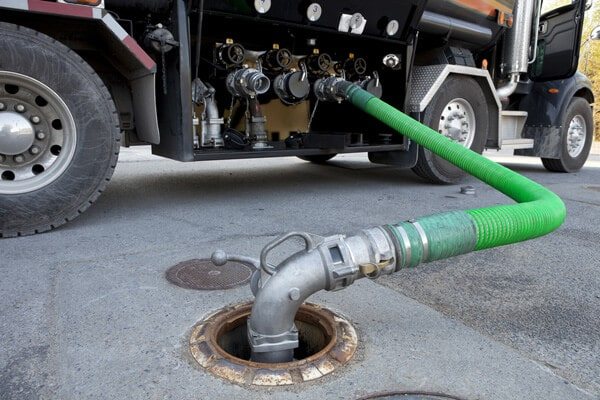 Fuel pump into truck