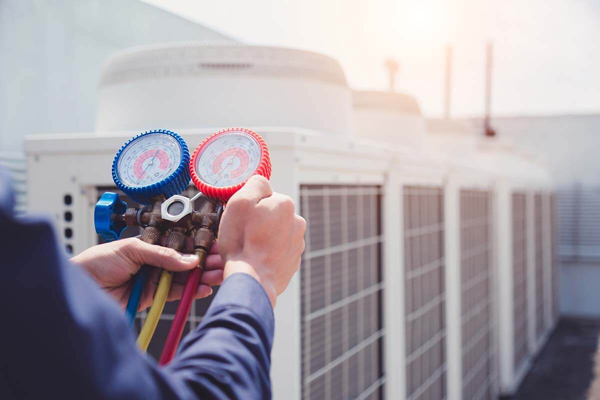 HVAC maintenance on commercial buildings